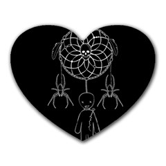 Voodoo Dream Catcher  Heart Mousepads