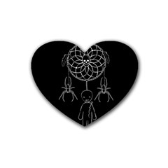 Voodoo Dream Catcher  Rubber Coaster (heart)