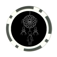 Voodoo Dream Catcher  Poker Chip Card Guard