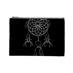 Voodoo Dream Catcher  Cosmetic Bag (large)