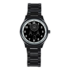 Voodoo Dream Catcher  Stainless Steel Round Watch