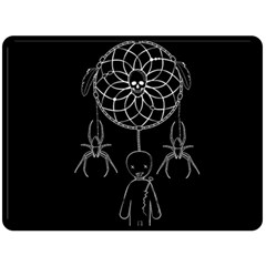 Voodoo Dream Catcher  Double Sided Fleece Blanket (large)