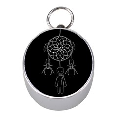 Voodoo Dream Catcher  Mini Silver Compasses