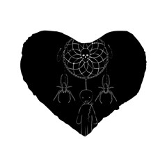 Voodoo Dream Catcher  Standard 16  Premium Flano Heart Shape Cushions