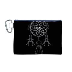Voodoo Dream Catcher  Canvas Cosmetic Bag (m)