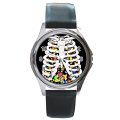 Trick Or Treat  Round Metal Watch