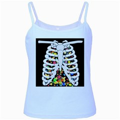 Trick Or Treat  Baby Blue Spaghetti Tank