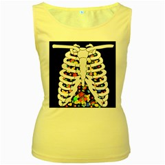 Trick Or Treat  Women s Yellow Tank Top