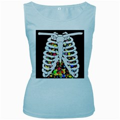 Trick Or Treat  Women s Baby Blue Tank Top