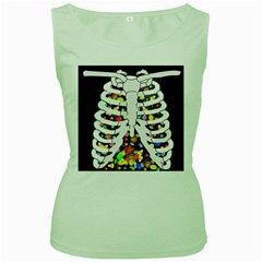 Trick Or Treat  Women s Green Tank Top