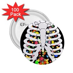 Trick Or Treat  2 25  Buttons (100 Pack)