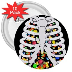Trick Or Treat  3  Buttons (10 Pack)