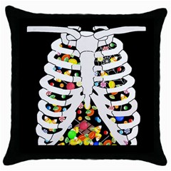 Trick Or Treat  Throw Pillow Case (black)