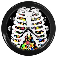 Trick Or Treat  Wall Clocks (black)