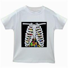 Trick Or Treat  Kids White T Shirts