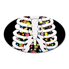 Trick Or Treat  Oval Magnet