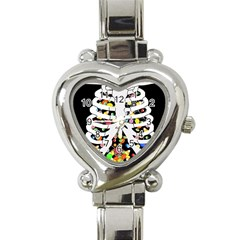 Trick Or Treat  Heart Italian Charm Watch