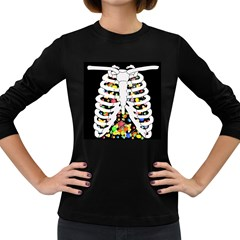 Trick Or Treat  Women s Long Sleeve Dark T Shirts