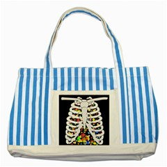 Trick Or Treat  Striped Blue Tote Bag