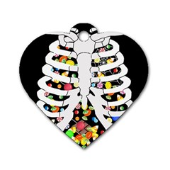 Trick Or Treat  Dog Tag Heart (one Side)