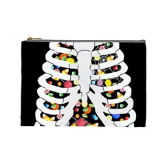 Trick Or Treat  Cosmetic Bag (large)