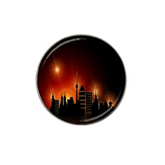 Gold Golden Skyline Skyscraper Hat Clip Ball Marker (10 Pack)