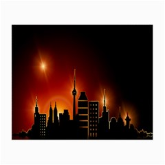 Gold Golden Skyline Skyscraper Small Glasses Cloth (2 Side)