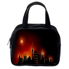Gold Golden Skyline Skyscraper Classic Handbags (one Side)