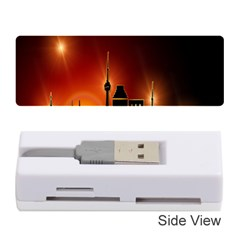 Gold Golden Skyline Skyscraper Memory Card Reader (stick)