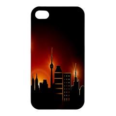 Gold Golden Skyline Skyscraper Apple Iphone 4/4s Hardshell Case