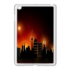 Gold Golden Skyline Skyscraper Apple Ipad Mini Case (white)