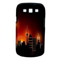 Gold Golden Skyline Skyscraper Samsung Galaxy S Iii Classic Hardshell Case (pc+silicone)