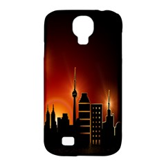Gold Golden Skyline Skyscraper Samsung Galaxy S4 Classic Hardshell Case (pc+silicone)