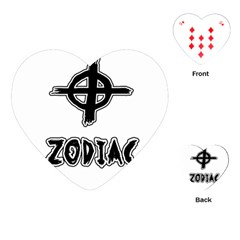 Zodiac Killer  Playing Cards (heart)