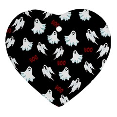 Ghost Pattern Heart Ornament (two Sides)