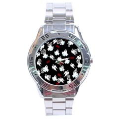Ghost Pattern Stainless Steel Analogue Watch