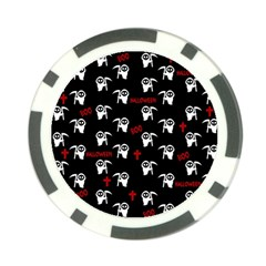 Death Pattern   Halloween Poker Chip Card Guard