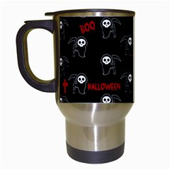 Death Pattern   Halloween Travel Mugs (white)