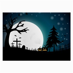 Halloween Landscape Large Glasses Cloth (2 Side)
