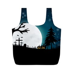 Halloween Landscape Full Print Recycle Bags (m)
