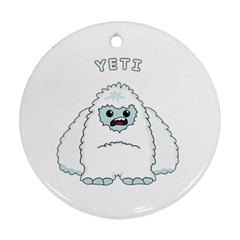 Yeti Round Ornament (two Sides)