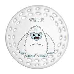 Yeti Ornament (round Filigree)
