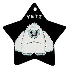 Yeti Ornament (star)