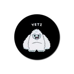 Yeti Rubber Round Coaster (4 Pack)