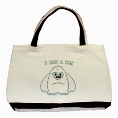 Yeti   I Saw A Man Basic Tote Bag