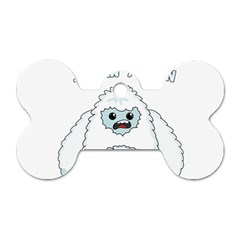 Yeti   I Saw A Man Dog Tag Bone (two Sides)