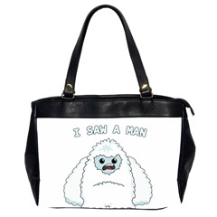 Yeti   I Saw A Man Office Handbags (2 Sides)