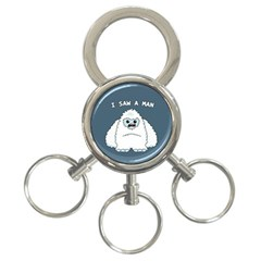 Yeti   I Saw A Man 3 Ring Key Chains
