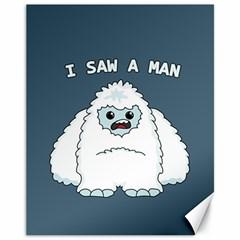 Yeti   I Saw A Man Canvas 11  X 14