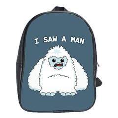 Yeti   I Saw A Man School Bag (large)